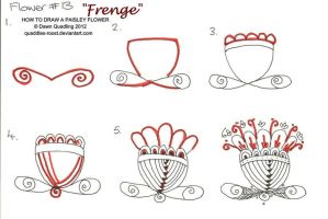 How to draw Paisley Flower 13  Frenge by Quaddles-Roost