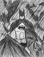 Batman in ink by MysteriousMonocle