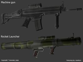 Weapons for a videogame by newhere
