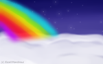 Clouds w/ rainbow (FREE) 3/4 by EscaxMonstrous