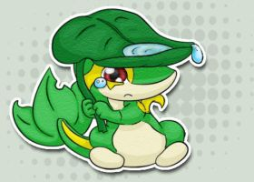 Scared Snivy by LadyDeven