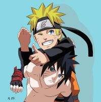 Naruto and Menma: Brothers by Ikuzram021