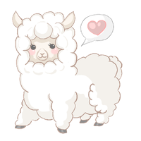 I've got an Albino Llama! by MYFAIRPIXEL