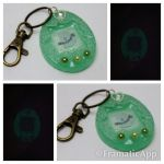 Glow in the Dark Ghost Tamagotchi Charm by TiellaNicole