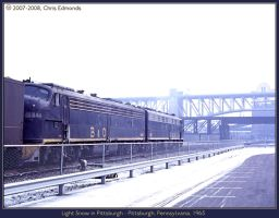 Light Snow in Pittsburgh by classictrains