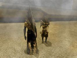 Pyramid Head and ???? by janemk