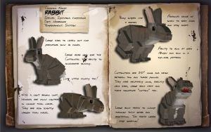 EcoCraft Journal Entry // Eastern Cottontail by EcoCraftMod