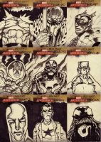 marvel sketch cards 16to24 by anjinanhut