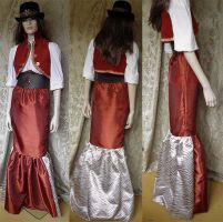 Steampunk skirt by JanuaryGuest