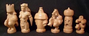 white chess pieces by Travis3120