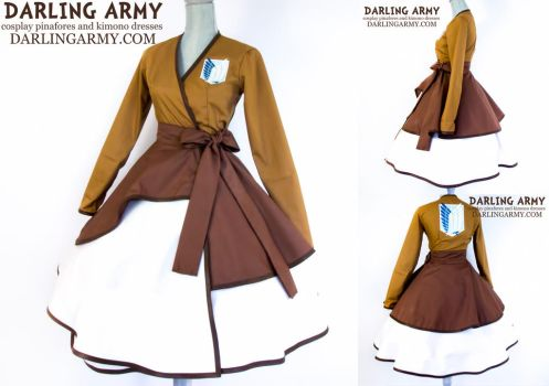 Attack on Titan Survey Corps Cosplay Wrap Dress by DarlingArmy