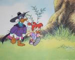 Darkwing Ducky and Gosalyn Animation Cel by LordNegaduck