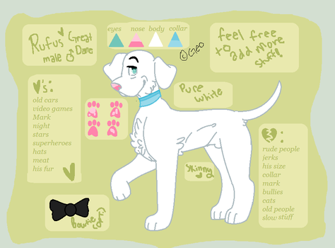 Rufus Reference Sheet 2013 by WolfLover778
