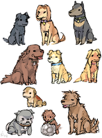 MONSTER dogs by emlan