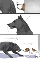 the wolf and the dog by K2Karine