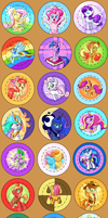 BronyCon 2013 Buttons: The Whole Lot! by ParadigmPizza