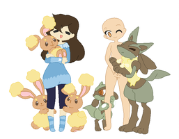 Pokemon collab by ghostiibear