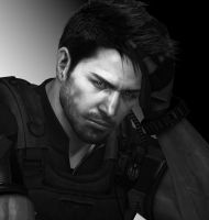 Chris Redfield Photoshot by SpyrousSeraphim