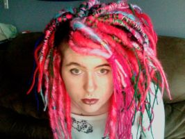 Rock and roll clown themed dreads by ExplodyStuff