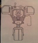 Cross-Stitch Yes Man by lapidoop