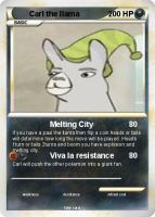carl the llama pokecard by alecplz
