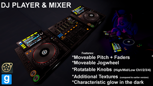 DJ Player+Mixer V2 Ultimate Edition SFM/GMod by JDash42