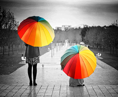 Rainbow Umbrella by eotree46