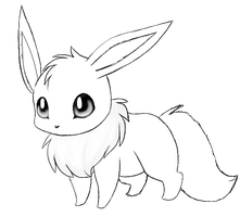 Eevee Lineart by lilli-myers123
