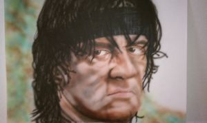 Sylvester Stallone as RAMBO by NeDrawMas