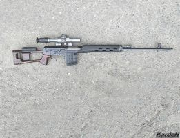 Dragunov SVD Sniper Rifle 5 by Garr1971