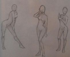 Female poses 2 by WeHaveTheSameFace