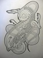 Celtic dog1 by knotty-inks