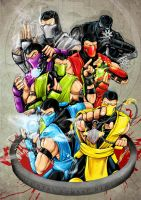 Mortal Kombat ninja's FINISHED by Sw-Art