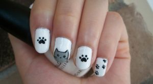 Cat Nail Art Design by Itsbejarano