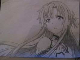 Asuna From Sword Art Online by kingaudi