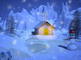 House in the winter by magrozo