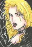 Black Canary Sketch Card by Graymalkin2112
