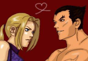 Nina and Kazuya in KOFstyle by Shadow-Harvest