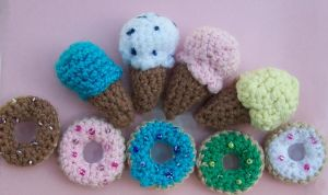 Amigurumi Donas and Ice Creams by ImuruDin