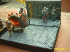 Diorama for figures. by piojote