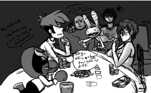 Poker Night at the inventory by Lydi-Lydi