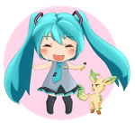 Hatsune Miku meets Pokemon by Daylijah