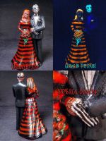 Freddy and Jason Wedding Cake Topper 1 by Undead-Art