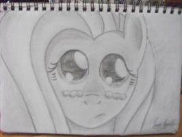 Fluttershy Drawing by Lunas-Apprentice