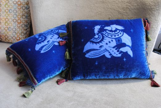 Windfish pillow by Eyes5