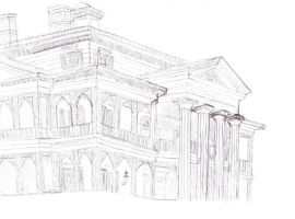 Haunted Mansion In Pen by OddballArtist