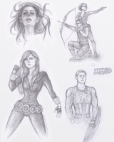 marvel doodles by Flomaniaque