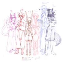 Free Sketch - GenderBent BTF and Pastel by kuro-tsuki24