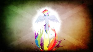 Rainbow Splash by Amoagtasaloquendo