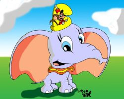 Dumbo and Timothy by JimmyCartoonist